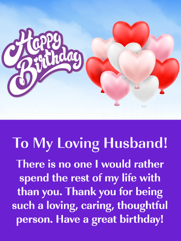 No One Except You! Happy Birthday Card for Husband