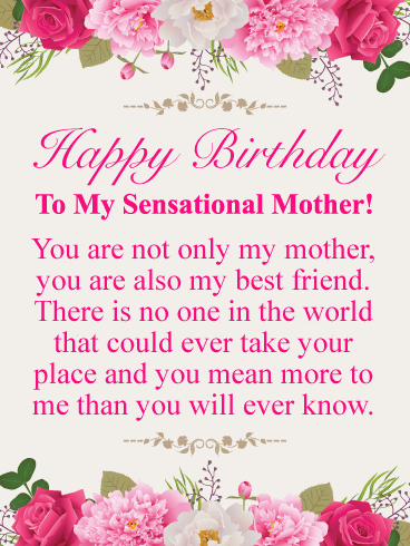 You're Sensational! Happy Birthday Card for Mother