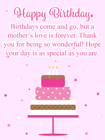 Love is Forever - Happy Birthday Card for Mother