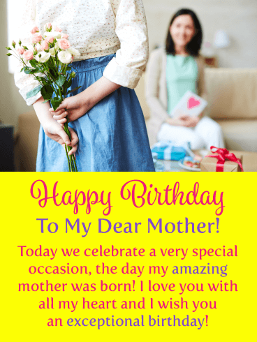 Celebrating You! Happy Birthday Card for Mother