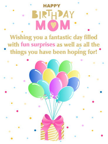 Fun Surprises - Happy Birthday Card for Mother