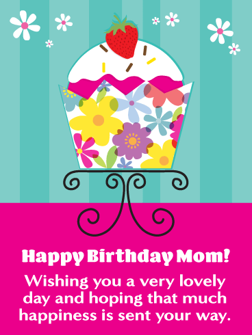 A Lovely Day - Happy Birthday Card for Mother