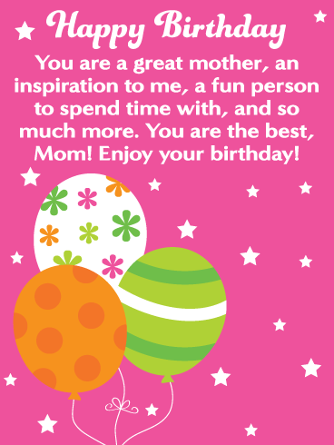 You're the Best! Happy Birthday Card for Mother