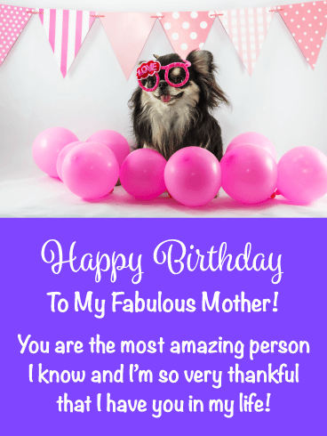 You're Amazing! Happy Birthday Card for Mother