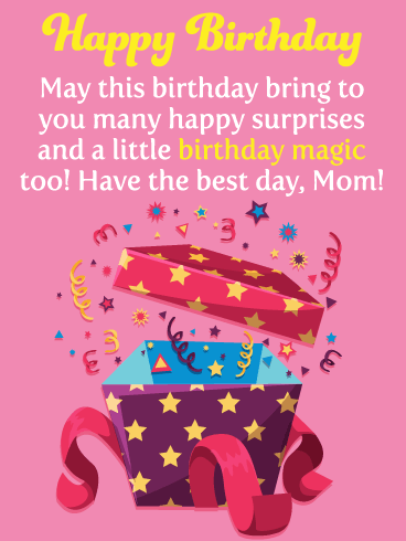 Happy Surprises- Happy Birthday Card for Mother