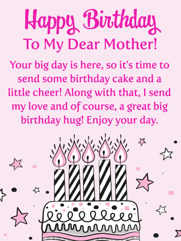 Your Big Day is Here! Happy Birthday Card for Mother