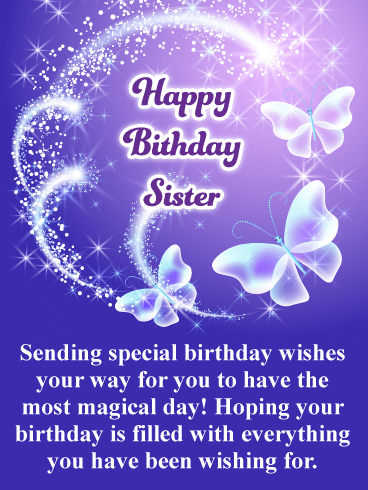 Have A Magical Day Happy Birthday Card For Sister