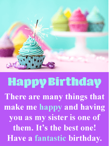 You're the Best! Happy Birthday Card for Sister