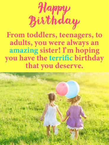 You are Amazing! Happy Birthday Card for Sister