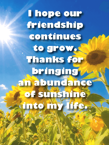 You are My Sunshine - Friendship Card