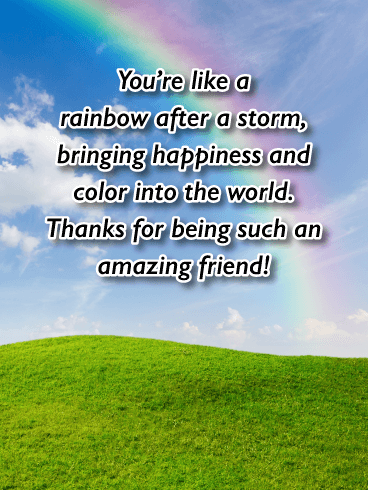 You Bring Happiness and Color - Friendship Card