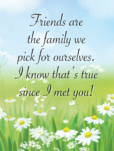 Friends are the Family - Friendship Card