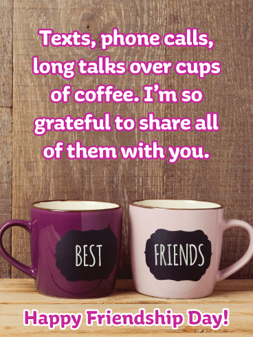 Cups of Coffee- Happy Friendship Day Card