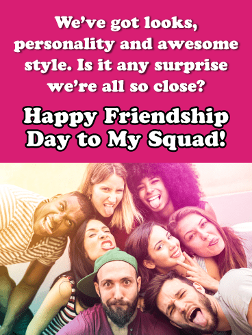 Awesome Squad- Happy Friendship Day Card