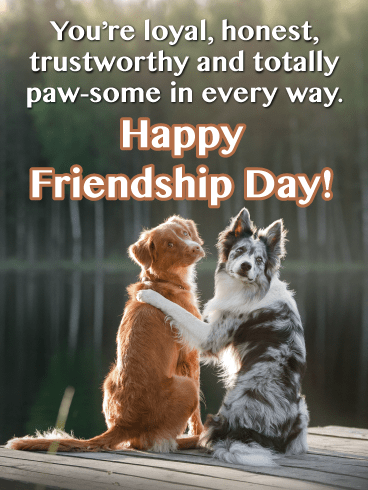 Two Cute Doggies- Happy Friendship Day Card