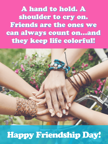 Symbol of The Close Bond- Happy Friendship Day Card