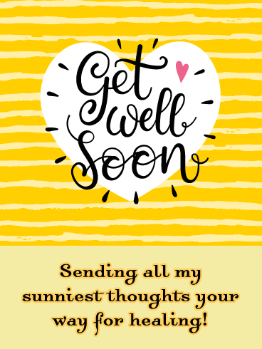 Sunny Thoughts - Get Well Soon Card