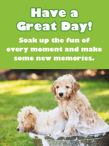 Soak Up the Fun of Every Moment - Good Day Card