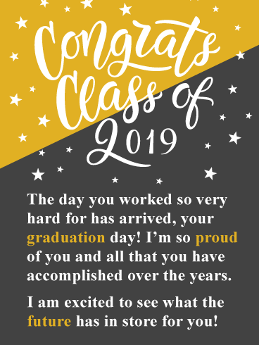 Your Big Day Has Arrived! Graduation Card 2019