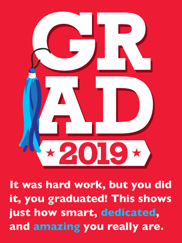 You Did It! Graduation Card 2019