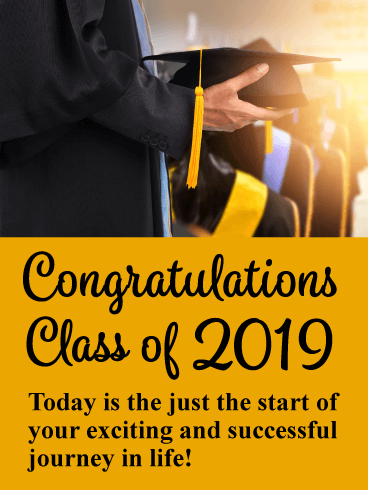 The Start of a New Journey! Graduation Card 2019