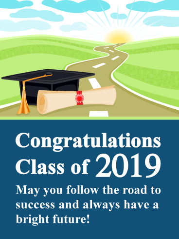 A Bright Future - Graduation Card 2019