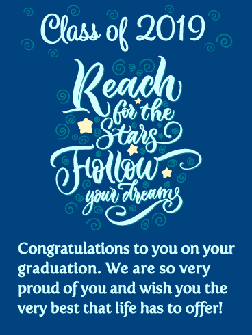 Follow Your Dreams! Graduation Card 2019
