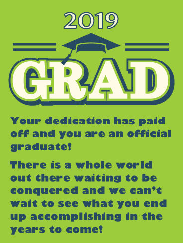 It's Official! Graduation Card 2019