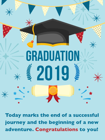 Your New Adventure! Graduation Card 2019