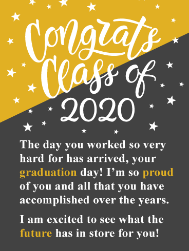 Your Big Day Has Arrived! Graduation Card 2020