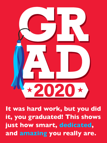 You Did It! Graduation Card 2020