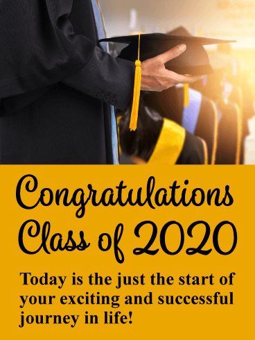 The Start of a New Journey! Graduation Card 2020