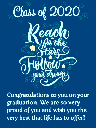 Follow Your Dreams! Graduation Card 2020