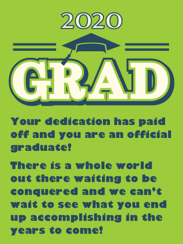 It's Official! Graduation Card 2020