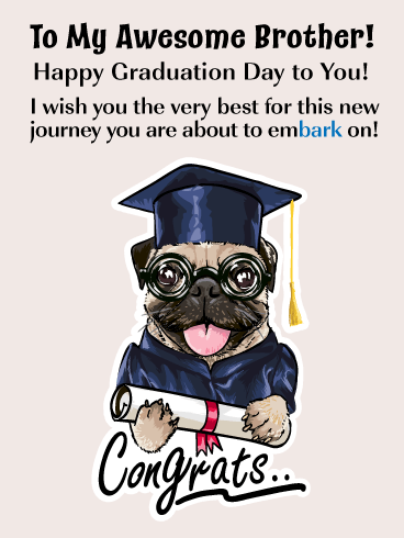 Embarking on a New Journey - Graduation Card for Brother