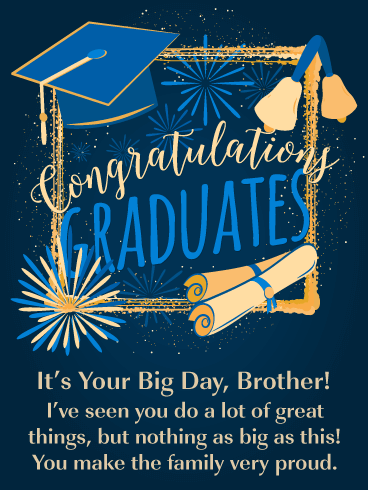 You Make Us Proud -  Graduation Card for Brother
