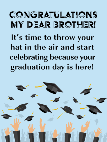 Time to Celebrate! Graduation Card for Brother