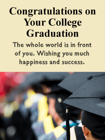Wishing Happiness and Success - College Graduation Card