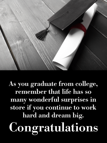 Continue to Dream Big - College Graduation Card
