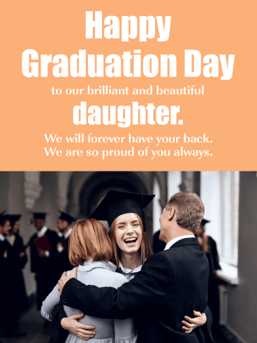 Group Hug - Happy Graduation Card for Daughter