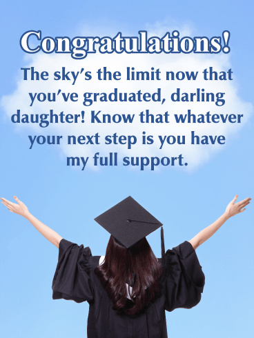The Sky's the Limit - Happy Graduation Card for Daughter