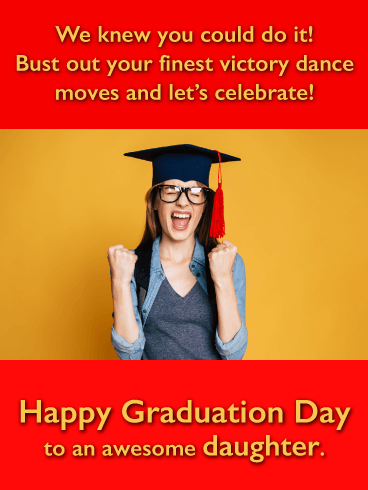 Victory Dance - Funny Graduation Card for Daughter