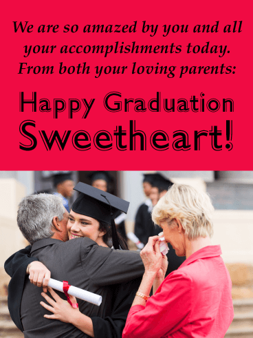 Amazing Accomplishments - Graduation Card from Parents