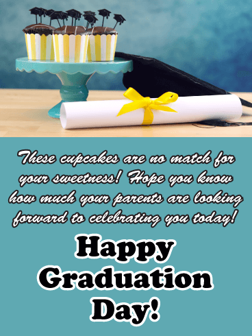 No Match for Your Sweetness - Happy Graduation Card from Parents