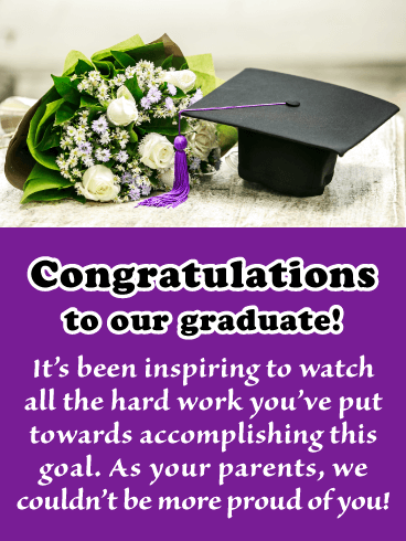Inspiring Goals Graduate - Graduation Card from Parents