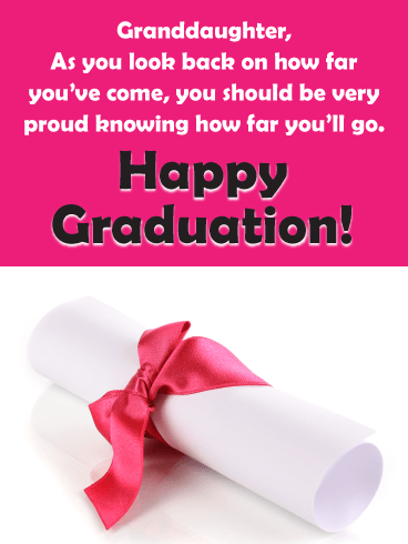 You Should Be Proud - Graduation Card for Granddaughter