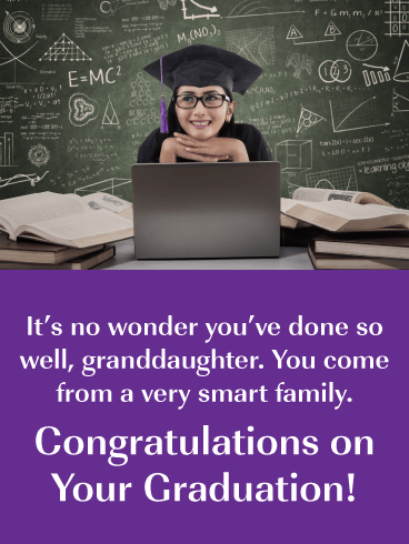 You've Done So Well - Graduation Card for Granddaughter