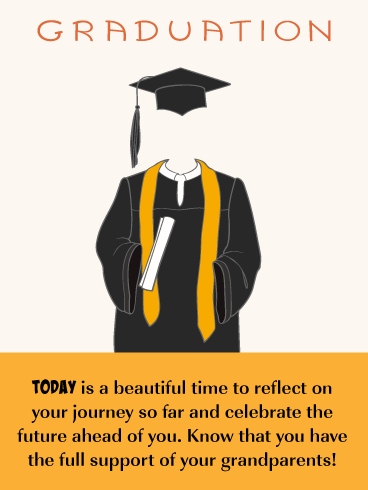 Reflect and Celebrate - Graduation Card from Grandparents