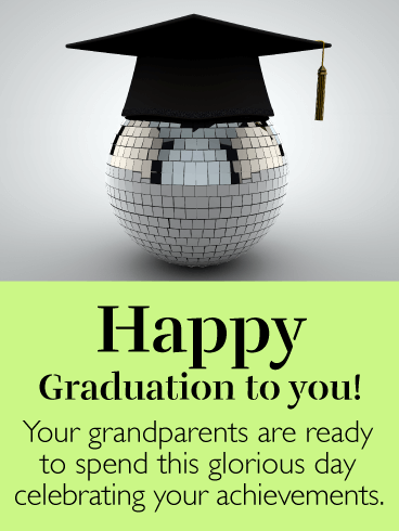 Ready to Celebrate - Happy Graduation Card from Grandparents