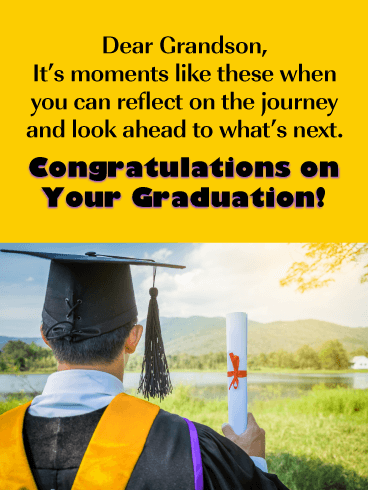 Look Ahead to What's Next - Graduation Card for Grandson